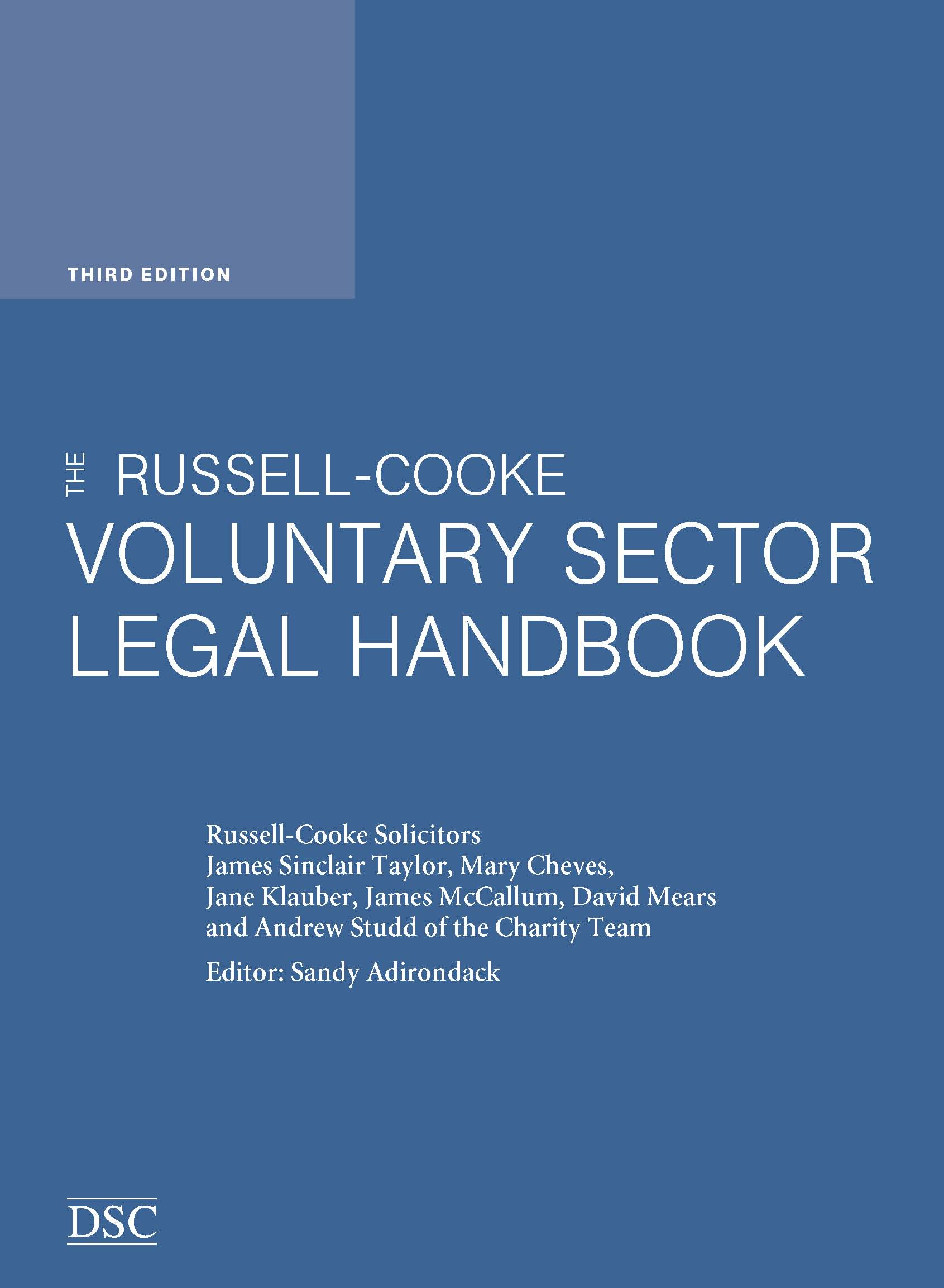 The Russell-Cooke Voluntary Sector Legal Handbook cover